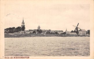Ansichtkaart Schoonhoven Groeten uit Schoonhoven De Gruijter Watertoren Molen 1916 HC10