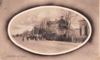 Ansichtkaart Erica Groeten uit Erica Drenthe Dorpsgezicht met Volk 1924 HC11
