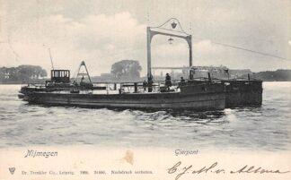 Ansichtkaart Nijmegen Gierpont Binnenvaart Scheepvaart 1904 HC13