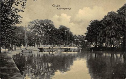Ansichtkaart Gouda Kleijwegsbrug Kattensingel 1909 HC26