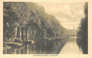 Ansichtkaart Gouda Fluweelensingel met stoomgemaal 1912 HC35