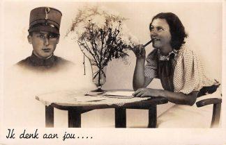 Ansichtkaart Militair WO2 Ik denk aan jou ... HC1002