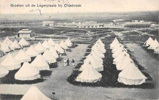 Ansichtkaart Oldebroek Legerplaats Militair tentenkamp 1912 Soldaten HC1006