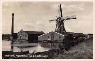 Ansichtkaart Westzaan Papiermolen Molen De Schoolmeester Fabriek De Vergulde Bijkorf 1939 HC1007