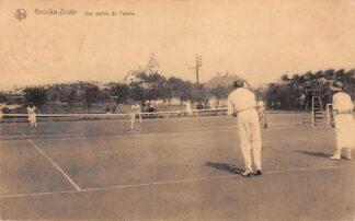 Ansichtkaart Knocke - Zoute 1925 Tenniswedstrijd Une Partie de Tennis België Sport HC1018