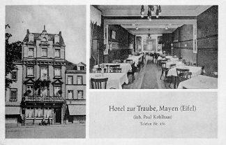 Ansichtkaart Mayen Eifel Hotel zur Traube Duitsland HC1019