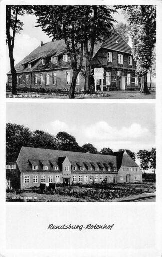 Ansichtkaart Rensburg Rotenhof Jugendherberge Lehrlingsheim Duitsland HC1043