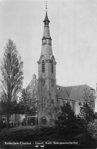 Ansichtkaart Rotterdam Gereformeerde Kerk Boergoenschevliet 1950 HC1045