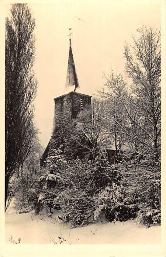 Ansichtkaart Rotterdam Hillegersberg 1940 Ned. Hervormde Kerk in de sneeuw HC1048