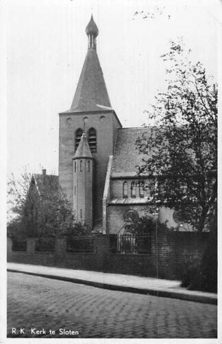 Ansichtkaart Sloten (NH) R.K. Kerk HC1049