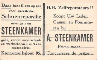 Ansichtkaart Gouda Reclame Schoenmaker Steenkamer Karnemelksloot 95 HC1053