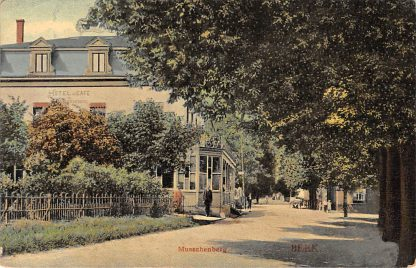 Ansichtkaart Beek (LB) Musschenberg 1906 Hotel Café HC1054