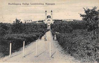 Ansichtkaart Nijmegen Hoofdingang Heilig Landstichting 1924 HC1056