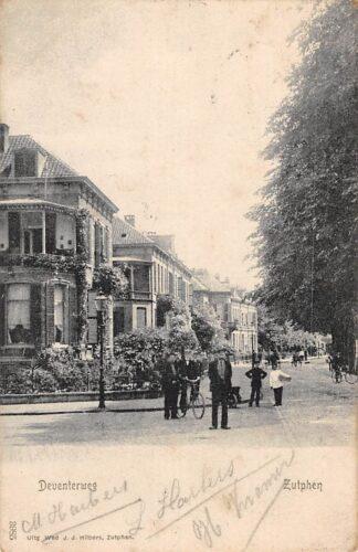 Ansichtkaart Zutphen Deventerweg 1906 HC1063