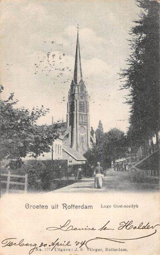 Ansichtkaart Rotterdam Groeten uit Rotterdam Lage Oost-zeedijk Uitg. J.G. Vlieger No. 377 HC1074