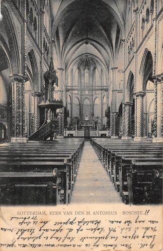 Ansichtkaart Rotterdam Kerk van den H. Antonius Boschje Kleinrondstempel Vught 1902 Filatelie HC1076