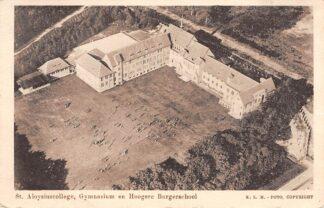 Ansichtkaart 's-Gravenhage St. Aloysiuscollege Gymnasium en Hoogere Burger school KLM 1930 Den Haag HC1077