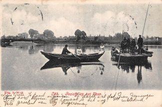 Ansichtkaart Lith Gezicht op het Veer Veerpont Pont Scheepvaart 1906 Oss HC1082