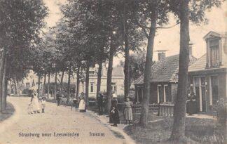 Ansichtkaart Irnsum Straatweg naar Leeuwarden 1911 HC1089