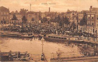 Ansichtkaart Leiden 1909 Veemarkt Markt Schepen HC1096