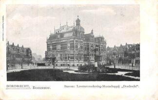 Ansichtkaart Dordrecht Rozenhof Bureau Levensverzekerings-Maatschappij Dordrecht  HC1098