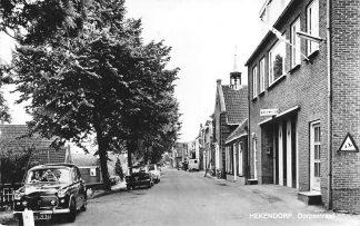 Ansichtkaart Hekendorp Dorpsstraat Brandweer kazerne Kerk Auto Haastrecht Oudewater HC1121