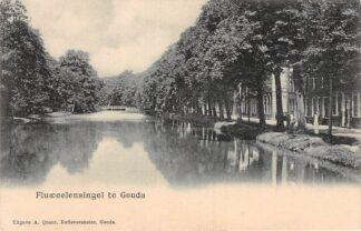 Ansichtkaart Gouda Fluweelensingel met Tiendewegbrug HC114