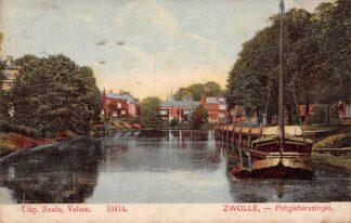 Ansichtkaart Zwolle Potgietersingel Binnenvaart schepen 1907 HC1150