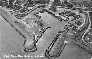 Ansichtkaart Texel Haven Oude Schild in vogelvlucht 1966 KLM no. 33035 HC116