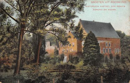 Ansichtkaart Roermond Groeten uit Roermond Kasteel der Graven Egm. en Hoorne 1908 HC1162