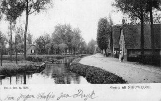 Ansichtkaart Nieuwkoop Groeten uit  1907 HC1168