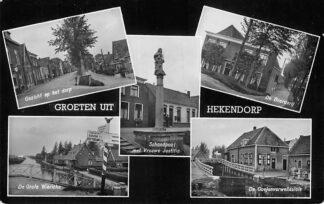 Ansichtkaart Hekendorp Groeten uit Hekendorp 1955 HC1184