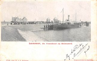 Ansichtkaart De Lemmer De Tramboot op Bolsward 1903 Tram Scheepvaart HC120