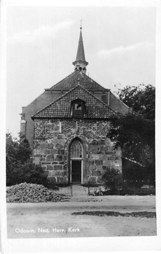 Ansichtkaart Odoorn Ned. Hervormde Kerk 1955 HC1207