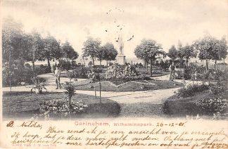 Ansichtkaart Gorinchem Wilhelminapark met monument en hoveniers 1901 HC121