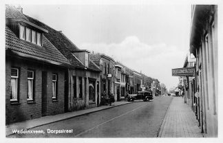 Ansichtkaart Waddinxveen Dorpsstraat Auto 1948 HC1223