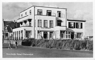 Ansichtkaart Noordwijk aan Zee Hotel Clarenwijck 1953 HC1247