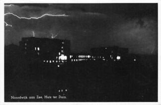 Ansichtkaart Noordwijk aan Zee 1948 Huis ter Duin Bliksem Onweersbui HC1248