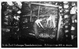 Ansichtkaart Kerkrade In de Zuid-Limburgse Steenkolenmijnen. Kolenpot op 410 m diepte Mijnen 1948 HC1255