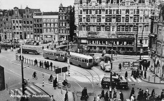 Ansichtkaart Amsterdam 1959 Muntplein Auto Tram HC1256