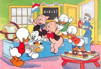 Ansichtkaart Donald Duck Walt Disney Biggetjes Kwik, Kwek en Kwak 1960 Strip HC1264