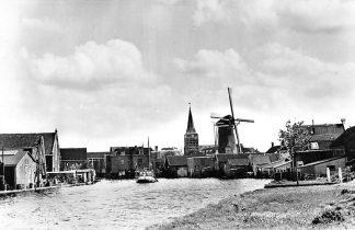 Ansichtkaart Bodegraven Rijn gezicht Molen Binnenvaart schepen HC1271