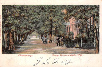 Ansichtkaart 's-Gravenhage 1904 Hooge Scheveningsche Weg Den Haag HC1284