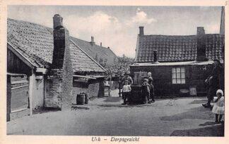 Ansichtkaart Urk Dorpsgezicht Klederdracht 1927 HC1288