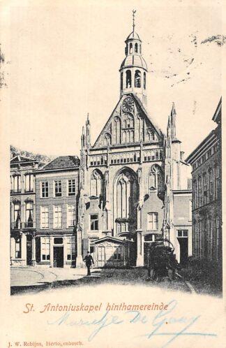 Ansichtkaart 's-Hertogenbosch Den Bosch St. Antoniuskapel Hinthamereinde 1902 HC129