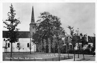 Ansichtkaart Otterlo Ned. Hervormde Kerk met Pastorie 1952 HC1290