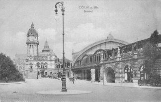 Ansichtkaart Duitsland Köln Coln a. Rhein 1905 Bahnhof Station Spoorwegen Deutschland Europa HC1295