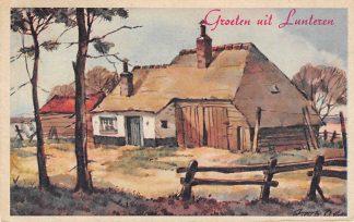 Ansichtkaart Lunteren Groeten uit Lunteren 1949 Hollandse Boerderijen HC1298