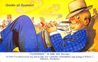 Ansichtkaart Zandvoort Groeten uit Zandvoort 1952 HC1306