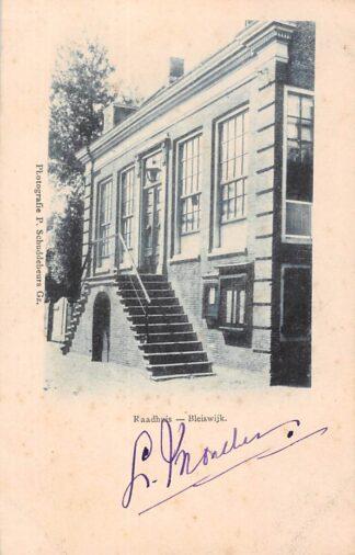 Ansichtkaart Bleiswijk Raadhuis HC131